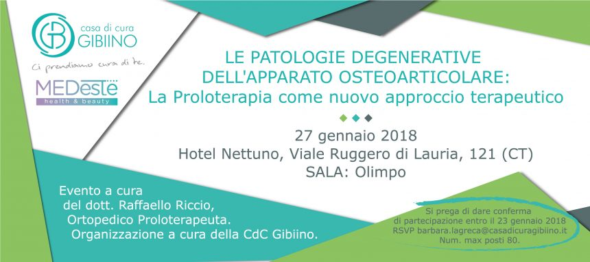 SAVE THE DATE – 17 febbraio 2018 Open Day | La Proloterapia