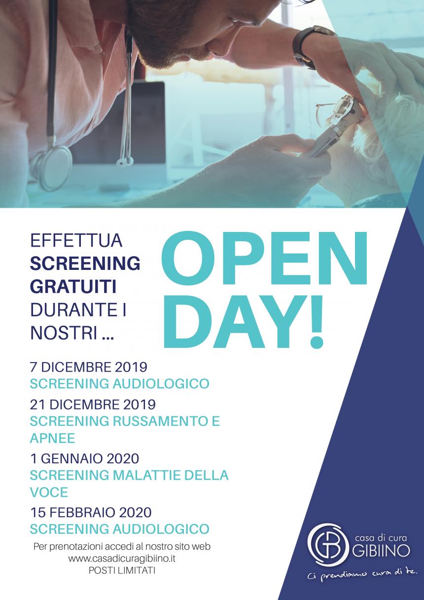 OPEN DAY – Screening Gratuito Otorinolaringoiatria